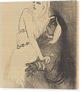 "At The Renaissance: Sarah Bernhardt In ""phedre"" (a La Renaissance: Sarah Bernhardt Dans ""ph?dre"") Wood Print"