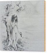At The Waters Edge Wood Print