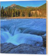 Athabasca Falls In Jasper National Park Wood Print
