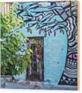 Athens Graffiti Wood Print