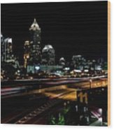 Atlanta Expressway Wood Print