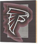 Atlanta Falcons Logo T-shirt Wood Print