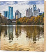 Atlanta - Usa Wood Print