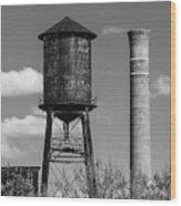 Atlanta Water Tower Wood Print