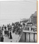 Atlantic City: Boardwalk Wood Print