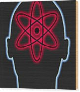 Atom Diagram Wood Print