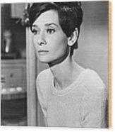 Audrey Hepburn (1929-1993) Wood Print by Granger