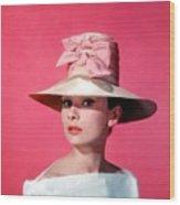 Audtrey Hepburn Breakfast Tiffany's Wood Print