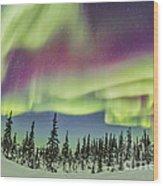 Aurora Borealis Over Churchill Wood Print