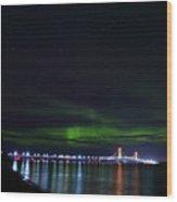 Aurora Over The Big Mac #2 Wood Print