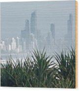 Australia - Surf Mist Shrouds Our View Wood Print