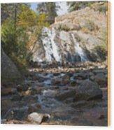 Autumn At Helen Hunt Falls Colorado Wood Print