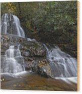 Autumn At Laurel Falls Wood Print