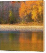 Autumn At Sawmill Lake Wood Print