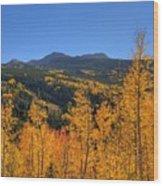 Autumn Bonfire Wood Print