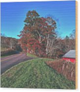 Autumn Countryside - North Carolina Wood Print