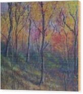 Autumn Hillside Wood Print