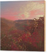 Autumn In The Rolling Hills Wood Print