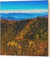 Autumn In The Smokies Wood Print