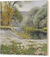 Autumn Landscape In The Vicinity Of Eshar Wood Print