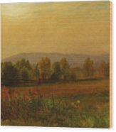 Autumn Landscape New England Wood Print