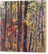 Autumn Leaves Wood Print by Donald Maier