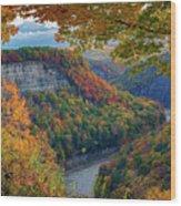 Autumn On The Genesee II Wood Print