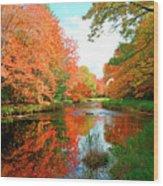 Autumn On The Mersey River, Kejimkujik National Park, Nova Scotia, Canada Wood Print