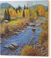 Autumn On The Truckee Wood Print