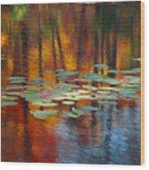 Autumn Reflections I Wood Print