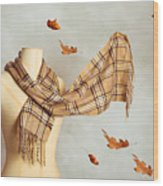 Autumn Scarf Wood Print