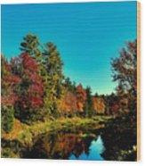 Autumn Splendor On The Moose River Wood Print