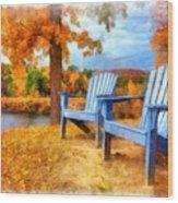 Autumn Splendor Watercolor Wood Print