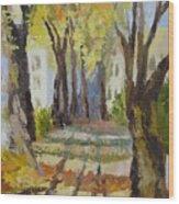 Autumn Street Wood Print