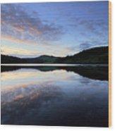 Autumn Sunset, Ladybower Reservoir Derwent Valley Derbyshire Wood Print