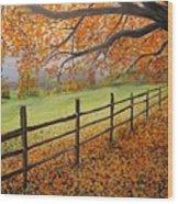 Autumn Vista Virginia Wood Print