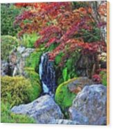Autumn Waterfall - Digital Art 5x3 Wood Print