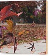 Autumn Wind Wood Print