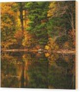 Autumns Calm Wood Print