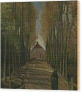 Avenue Of Poplars In Autumn Nuenen, October 1884 Vincent Van Gogh 1853 - 1890 Wood Print