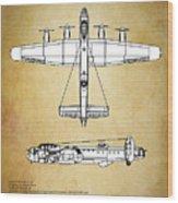 Avro Lancaster Bomber Wood Print