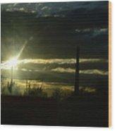 Az Cloudy Sunset Wood Print