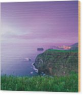 Azores Coastal Landscape Wood Print