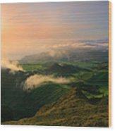 Azores Islands Landscape Wood Print