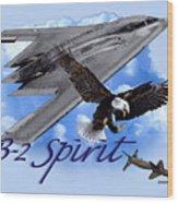 B-2 Spirit Wood Print