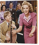 Babes In Arms, From Left Mickey Rooney Wood Print by Everett