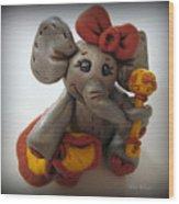 Baby Elephant Wood Print by Trina Prenzi