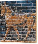 Babylon: Ishtar Gate 600 B.c Wood Print