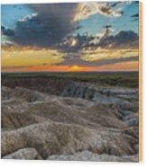 Badlands Np Wilderness Overlook 4 Wood Print