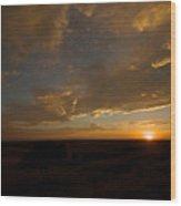 Badlands Sunset Wood Print